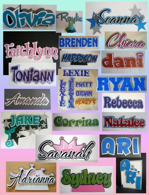 more cut out names