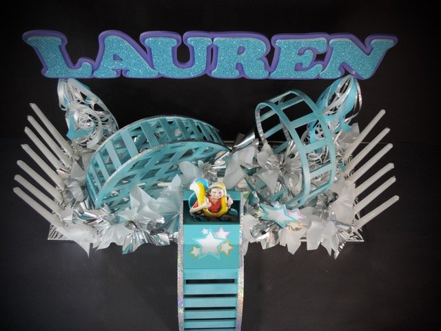 roller coaster centerpiece