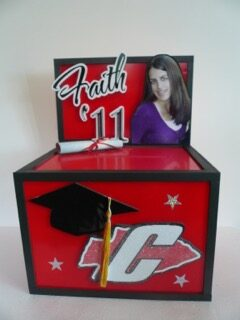 graduation card box Faith