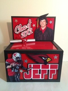 football graduation gift card box