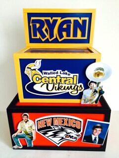 Ryans gift box for Walled Lake Central and NMU