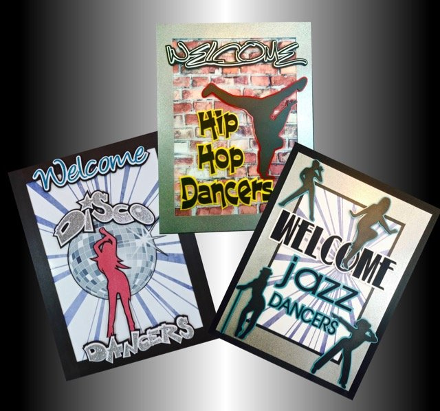 Welcome dance signs