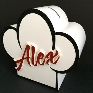 chefs hat gift card box