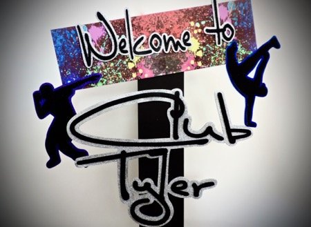 night club dance welcome sign