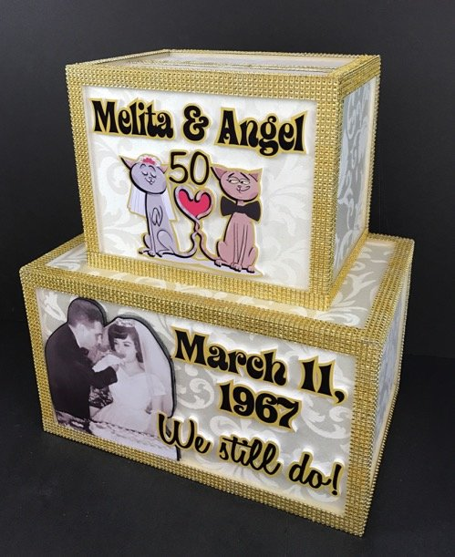 Anniversary wedding gift card box