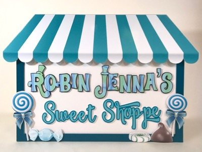 Sweet Shoppe Candy Table sign freestanding